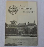 "Vintage ""Home of Franklin D. Roosevelt"" Informational Pamphlet"