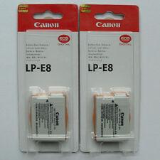 2x LP-E8 Batteries Charger For Canon 550D 600D 650D X4 X5 X6 T4i T3i T2i