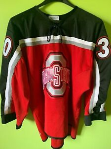 Ohio State University Hockey Jersey Team Issued Game Used Vintage #30 OSU WCHA