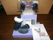 Dog Boots / Booties / Shoes - Little Lily - Black w/ Fur - Size 2 - BRAND NEW