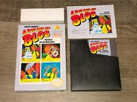 A Boy and His Blob Nintendo Nes Complete CIB Near Mint Condition Authentic
