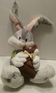 "Hallmark Easter Bugs Bunny & Chocolate Bunny 14"" Plush Warner Bros EUC w/Tag toy"
