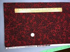 Quilt fabric Dark Red/Black Floral Kimberly Poloson for Robert Kaufman