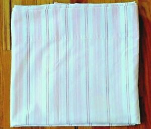 """POTTERY BARN KIDS SHOWER CURTAIN PINK & WHITE STRIPE COTTON - LINED 44X60""""  USED"""