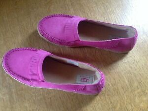 BN Ugg 7.5 UK Pink Suede Leather Moccasins - Perfect for Summer