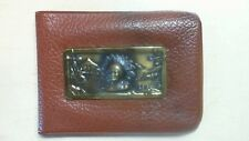 Vintage Boy's Vinyl Plastic Western  Wallet with 3 D Indian logo R8T1