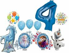 Frozen 2 Party Supplies 4th Birthday Elsa, Anna, Olaf and Nokk Balloon Bouque.