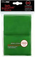 Ultra Pro Card Supplies Deck Protector Green Standard Card Sleeves [100 ct]