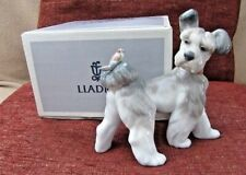 "New Lladro ""Unexpected Visit"" #6829 - Dog With Bird On His Tail - Nib"