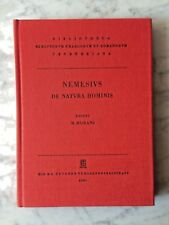 Nemesius: de Natura trachomatis, ed. m. Morani, Bibliotheca Teubneriana, Leipzig 1987