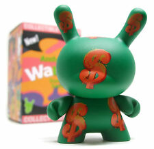 "Kidrobot ANDY WARHOL DUNNY SERIES 2 - GREEN DOLLAR SIGNS 3"" Mini Vinyl Figure"