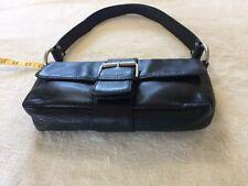 Wilson Clutch Black Leather Handbag