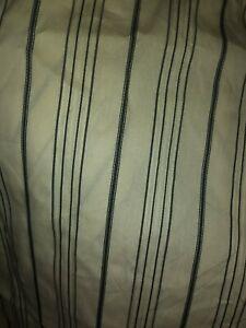 "RALPH LAUREN Bleecker Street Queen Bed Skirt Black Stripe 18"" drop New"