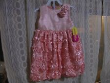 Penelope Mack Girls Dress Pink ruffles, 24 Month, New With Tag