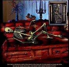 5ft coperchio in plastica per porta di Scheletro Decorazione Halloween tutte le condizioni meteorologiche Muro Appeso Sedia