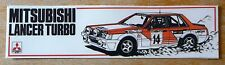 Mitsubishi Lancer Turbo Rally Motorsport Sticker / Decal