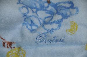 "$275! NEW PRATESI YELLOW BEIGE BLUE ROSES HAND TOWEL Exquisite 14"" x 21"""