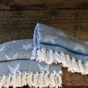 Soft Cotton Star Design Throws Blankets Size: 130cm x 150cm