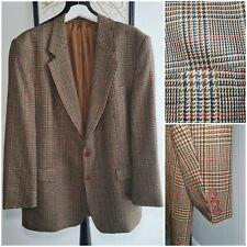 DAKS Simpsons Jermyn Street 44R Vintage Blazer Suit Jacket Tweed houndstooth dog