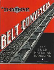 MRO Catalog - Dodge - Belt Conveyors - 1937 - Brochure (MR169)