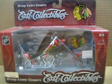 NHL OCC Chopper, Die Cast Motorcycle, Chicago Blackhawks, MIB, New, 1:18