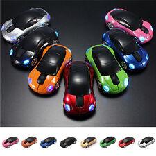 2.4G 1600DPI Mouse USB Receiver Wireless Light LED Car Shape Optical Mice Random