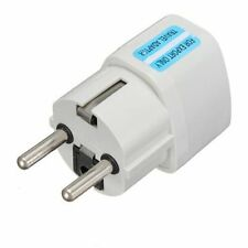 UK/US/AU Universal to EU AC Power Plug Adapter Travel 2 Pins Converter European