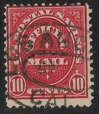 2v0619 Scott O126 US Postal Savings Stamp 1911 10c Official Mail Used