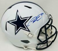 CEEDEE LAMB Autographed Cowboys White Matte Full Size Speed Helmet FANATICS