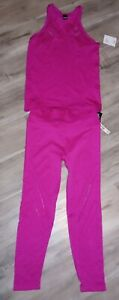 2pc Victoria Secret Sport Seamless cut out Tank & Tights Set Large *NWT*
