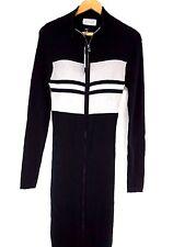 NWT Diesel Women's Black M-VIX Cardigan Long Zip Front Dress Large J19319