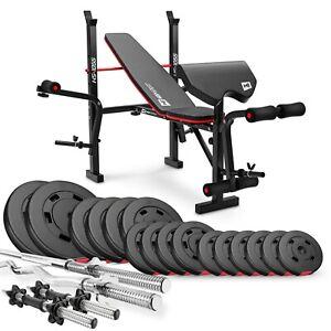 Weight Bench Black Foldable FULL SET 90kg Weigh Barbell,Dumbells  Gym Workou !!