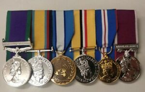 Ireland Gulf UN Cyprus Iraq Jubilee Army LSGC Full Size Court Mounted Medals