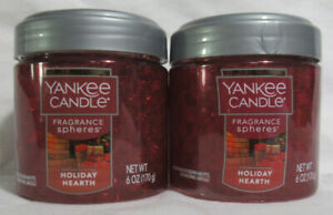 Yankee Candle Fragrance Spheres Odor Neutralizing Beads Lot Set 2 HOLIDAY HEARTH