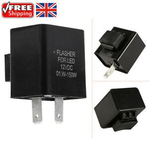 2 Pin Motorcycle Indicator 12v Flasher Relay Motorbike LED Turn Signal Unit UK