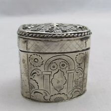 Antique Dutch Silver Peppermint Box Willem lobensteijn 1864 Schoonhoven