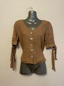 Urban Outfitters Beige Linen Shirt - S - BNWT