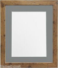 3d9b97579e4 H7 Picture Photo Fr me Wood Rustic Oak With Dark Grey Mount 14 X 11