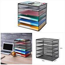 Veesun Paper Letter Tray Organizer, Mesh Desk File Organizer with 5 Tier Shelf S
