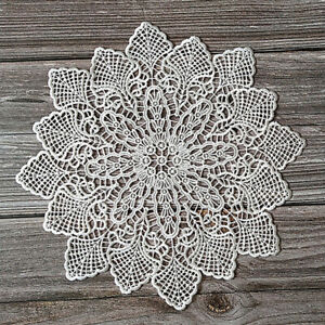 Cafe Lace Placemats Home Decoration Home Decorative Mat Festival Embroidery R