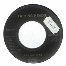 """Talking Heads - And She Was - 7"""" Record Single"""