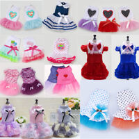 Cute Puppy Pet Dog Tutu Dress Lace Skirt Cat Princess New Dog Vest Dress Clothes