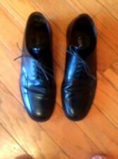 Men's Black Leather Laceup Prada Dress Shoes SZ 9 Made in Italy