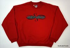 Ski Doo Sno Gear Sweatshirt Chenille Patch Logo Adult Medium Red