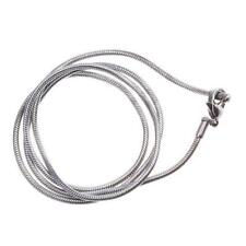 22'' inch Durable Silvery Mens Womens Stainless Steel Necklace Chain Snake Chain