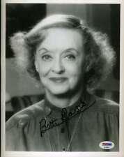 Bette Davis Psa Dna Signed 8x10 Photo Original Autograph