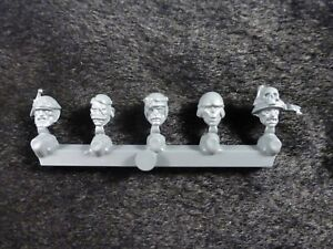 Warhammer Empire Freeguild Guard State Troops : Heads with Plain Helmet x5