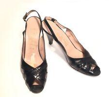 BRUNO MAGLI High Heel Sling Back Open Toe Black Shoe Womens Size 6.5AA