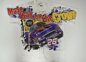 (4) NASCAR Total Print Shirts - Sadler Dodge & McMurray Crown Royal