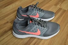 New Nike Downshifter 7 Running Sneakers Shoes Gray Orange 852466-001 Ladies Sz 9